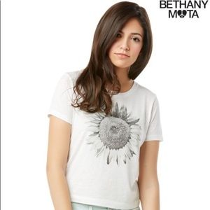 Aeropostale Bethany Mota Sunflower Graphic Tee